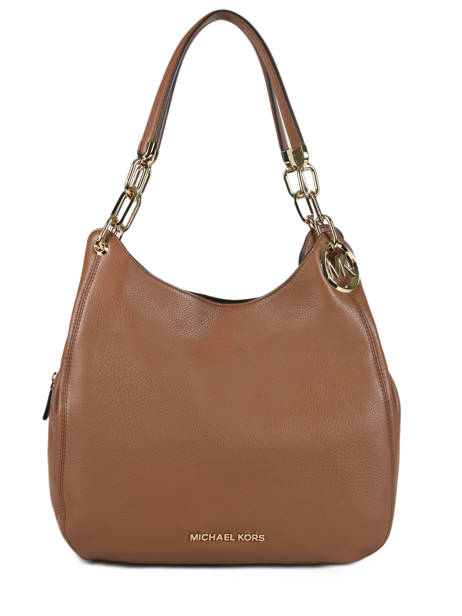 Lillie Large Leather Shoulder Bag Michael kors Brown lilie T9G0LE3L