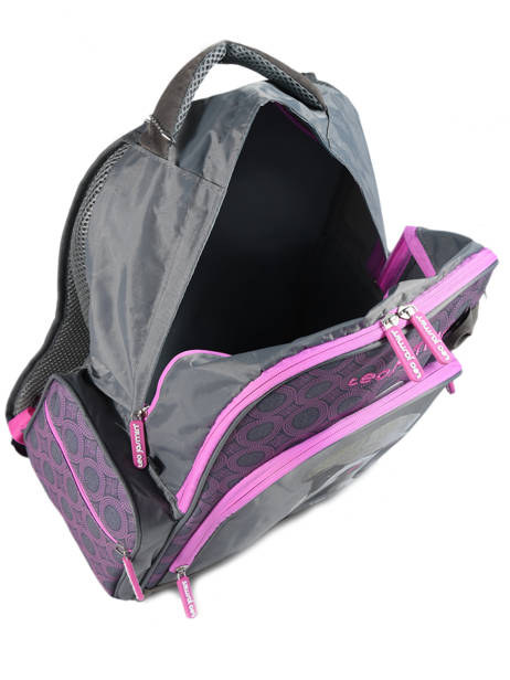 Backpack 2 Compartments With Free Pencil Case Teo jasmin Violet teo titi TEO22110 other view 3