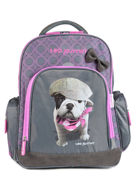 Backpack 2 Compartments With Free Pencil Case Teo jasmin Violet teo titi TEO22110
