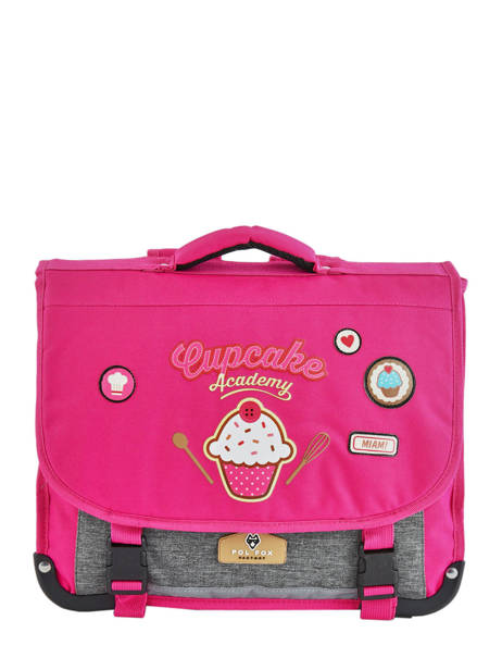 Satchel 2 Compartments Pol fox Pink fille F-CA38