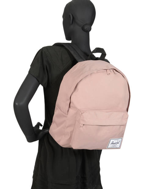 Backpack 1 Compartment Herschel Pink classics 10753 other view 3