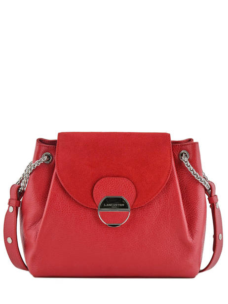 Leather Pia Shoulder Bag Lancaster Red foulonne pia 547-38
