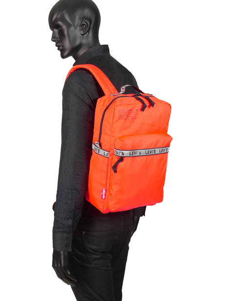 Backpack 1 Compartment + 15'' Pc Levi's Orange l pack 230809 other view 2