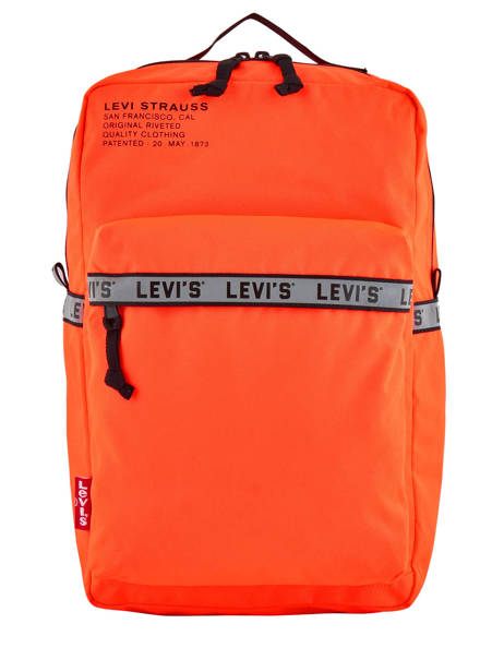 Backpack 1 Compartment + 15'' Pc Levi's Orange l pack 230809