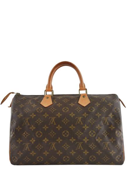 Preloved Louis Vuitton Handbag Speedy 35 Monogram Brand connection Brown louis vuitton 276