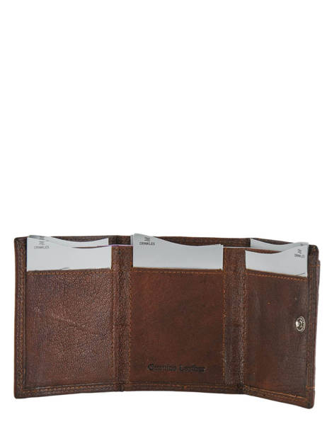 Wallet Leather Crinkles Brown 14237 other view 2