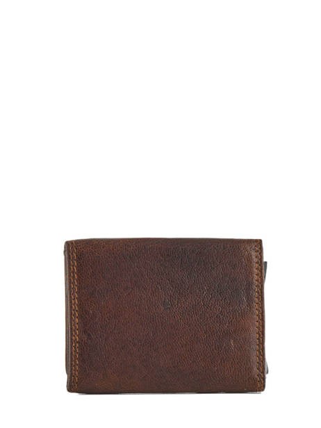 Wallet Leather Crinkles Brown 14237 other view 1