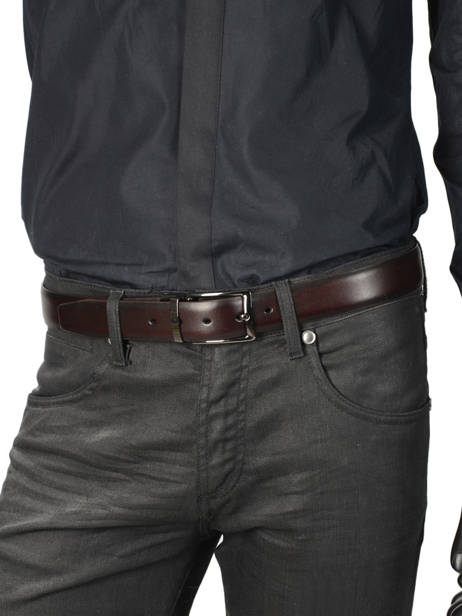 Leather Men's Belt Classic Petit prix cuir Black classic 80066 other view 2