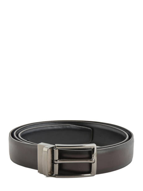 Leather Men's Belt Classic Petit prix cuir Black classic 80066