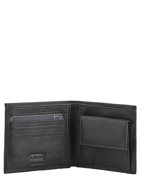 Leather Wallet Heritage Logo Levi's Black clairview 222539 other view 2