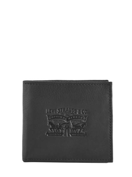 Leather Wallet Heritage Logo Levi's Black clairview 222539