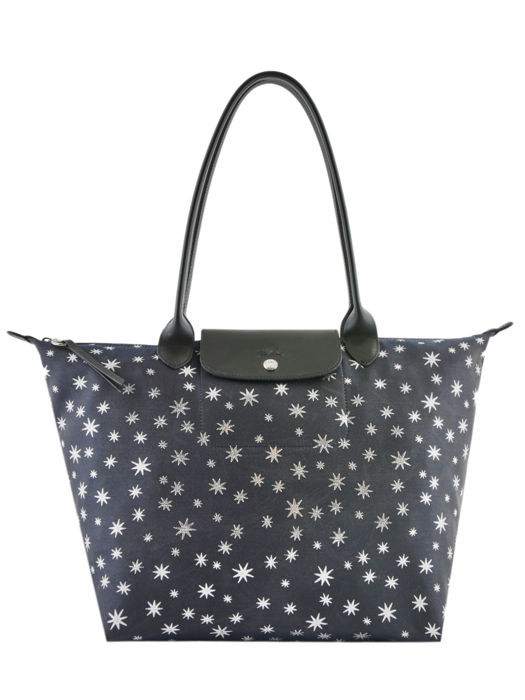 Longchamp Le pliage jacquard etoiles Hobo bag Blue
