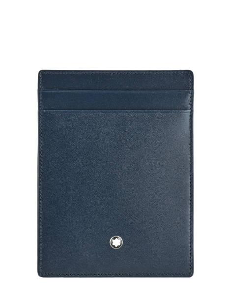 Leather Card Holder Meisterstück 4cc Montblanc Blue meisterstÜck 118311