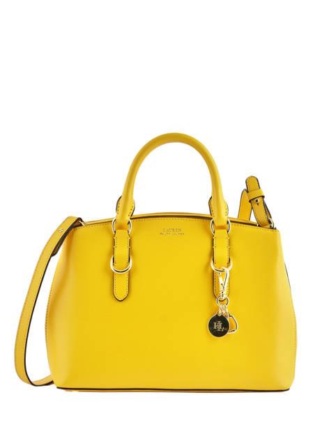 Small Leather Satchel Bennington Lauren ralph lauren Yellow bennington 31744256