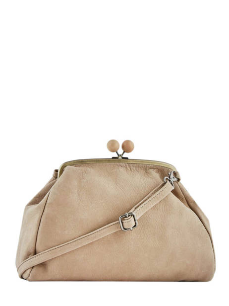 Leather Crossbody Bag Cottonwood Biba Beige cottonwood COT1L other view 3
