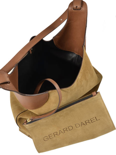 Leather Tote Bag Folk Gerard darel Brown folk DMS60407 other view 4