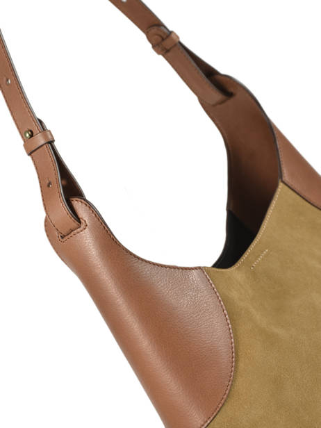 Leather Tote Bag Folk Gerard darel Brown folk DMS60407 other view 1