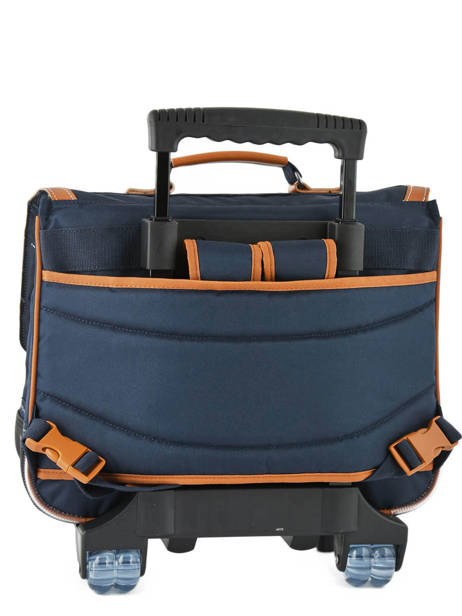 Wheeled Schoolbag 2 Compartments Tann's Blue les unis 20-42111 other view 3