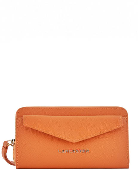 Wallet Leather Lancaster Orange signature 127-04
