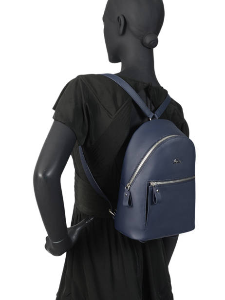 Backpack Lacoste Blue daily classic NF2773DC other view 2