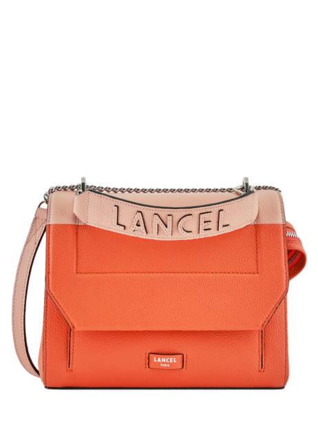 Medium Shoulder Bag Ninon Leather Lancel Orange ninon A09234