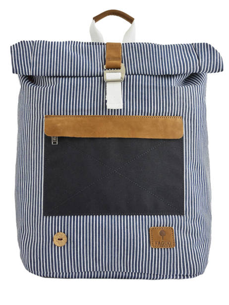Sac à Dos Tricolor Faguo Noir stripes denim 20LU0101