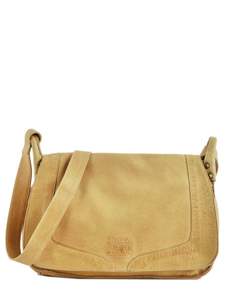 Shoulder Bag Cow Leather Basilic pepper Yellow cow BCOW15