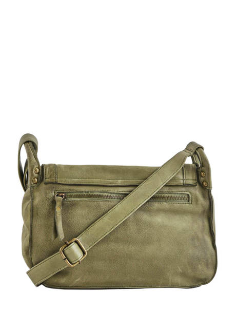 Shoulder Bag Cow Leather Basilic pepper Green cow BCOW15 other view 4