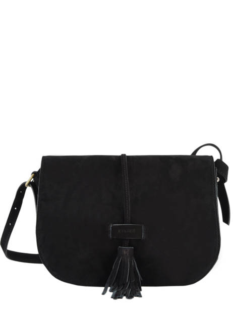 Crossbody Bag Tornade Leather Etrier Black tornade ETOR01