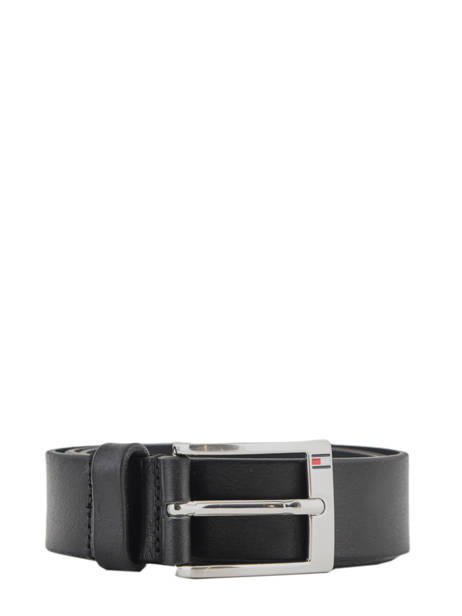 Leather Man's Belt Tommy hilfiger Black belt 67895010
