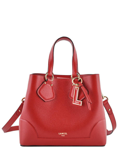 Small Leather Satchel Izy Lancel Red izy A10471