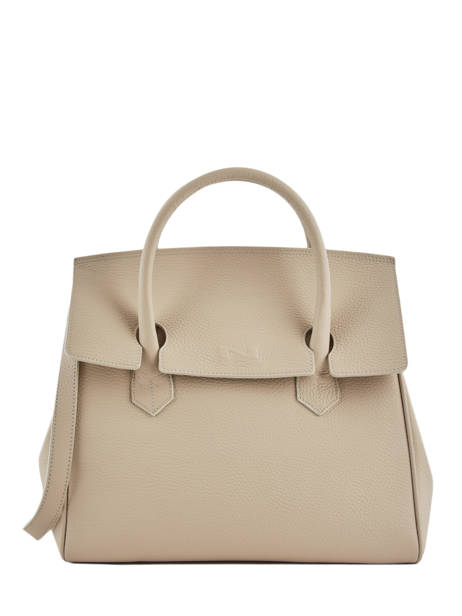Top Handle Clara Leather Nathan baume Beige nathan 2