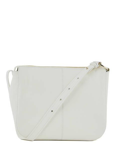 Leather Crossbody Bag Caviar Crinkles White 80962 other view 3