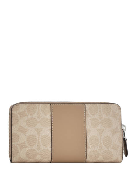 Wallet Leather Coach Beige wallet 31546 other view 2