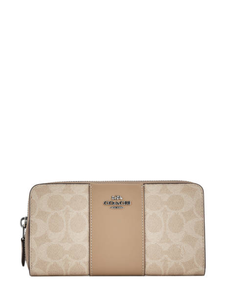 Wallet Leather Coach Beige wallet 31546