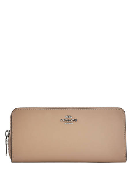 Portefeuille Cuir Coach Marron wallet 73738
