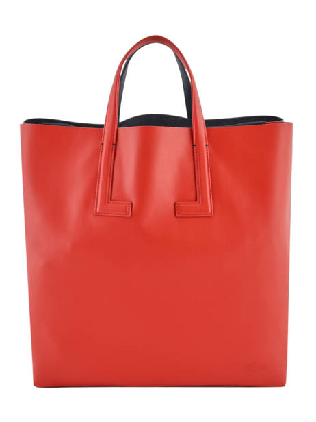 Sac Cartable Fashion Show Cuir Lacoste Rouge fashion show NF3184TI