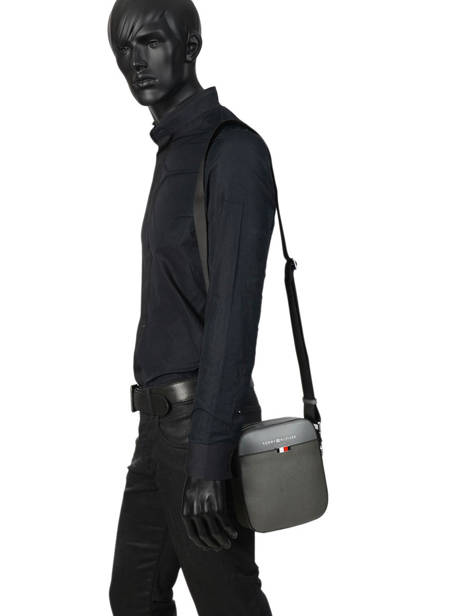 Leather Crossbody Bag Th Essential Tommy hilfiger Black business AM05783 other view 2