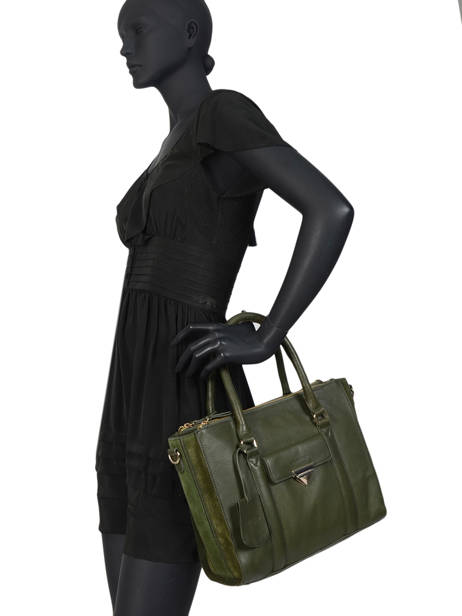 Sac Trapèze Secret Sage Cuir Burkely Vert secret sage 550160 vue secondaire 2