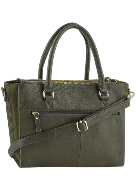 Sac Trapèze Secret Sage Cuir Burkely Vert secret sage 550160 vue secondaire 3