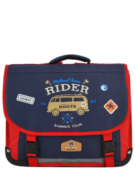 Cartable 2 Compartiments Pol fox Bleu garcon G-CA38