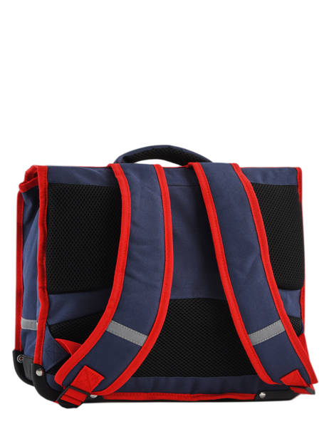 Cartable 2 Compartiments Pol fox Bleu garcon G-CA38 vue secondaire 3