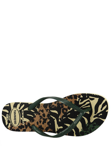 Flip-flops Havaianas Green sandales / nu-pieds 4103352F other view 1