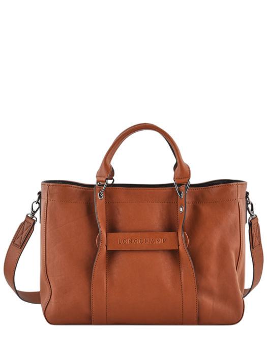 Longchamp Longchamp 3d zip Sacs porté main Marron