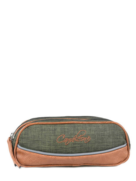 Pencil Case 2 Compartments Cameleon Green vintage chine PBVNTROU