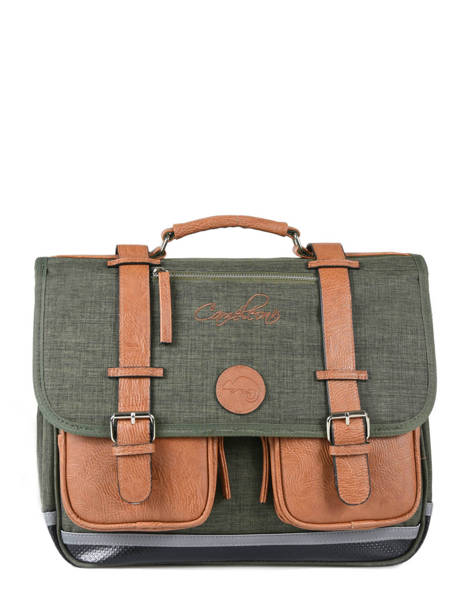 Satchel 2 Compartments Cameleon Green vintage chine PBVNCA38
