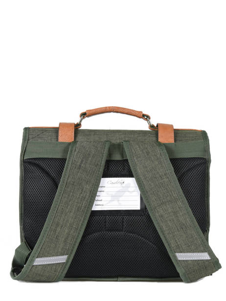 Satchel 2 Compartments Cameleon Green vintage chine PBVNCA38 other view 3