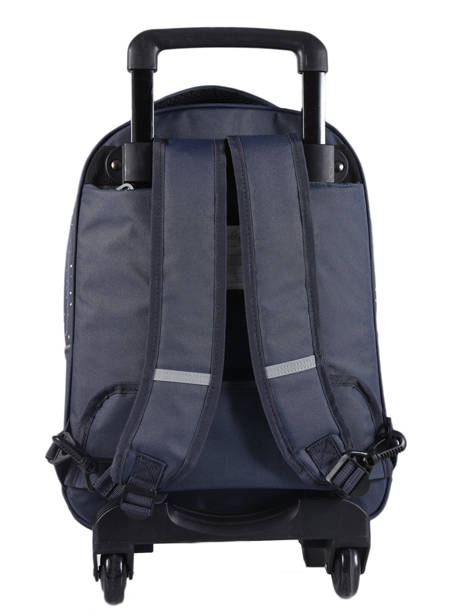 Wheeled Backpack 2 Compartments Cameleon Blue basic PBBASR43 other view 4