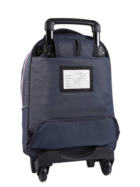 Wheeled Backpack 2 Compartments Cameleon Blue basic PBBASR43 other view 3