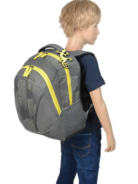 Backpack 2 Compartments Cameleon Gray basic PBBASD43 other view 2